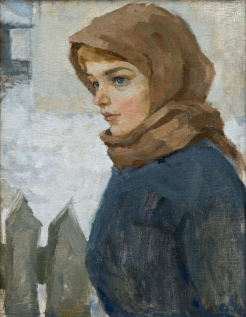 «Neighbor»; 52х41; oil on canvas; 1980.