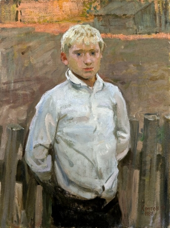 «Village boy, Alex White»; 79х62; oil on canvas; 1982.