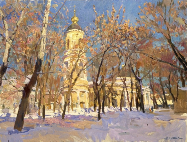 «Spring on the Ordynka»; 80х100; oil on canvas; 2011.