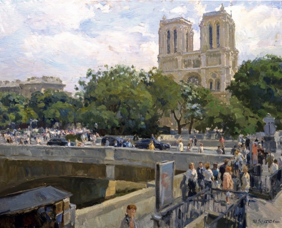 «Notre dame de Paris»; 80x100; oil on canvas; 2005.