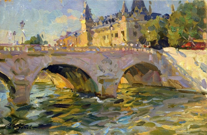 « Bridge St. Michele»; 38x55; oil on canvas; 2001.