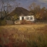 «Autumn day. My house»; 38х50;  oil on canvas; 1980.