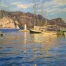 «Yachts  at the port»; 64х91; oil on canvas; 2007.